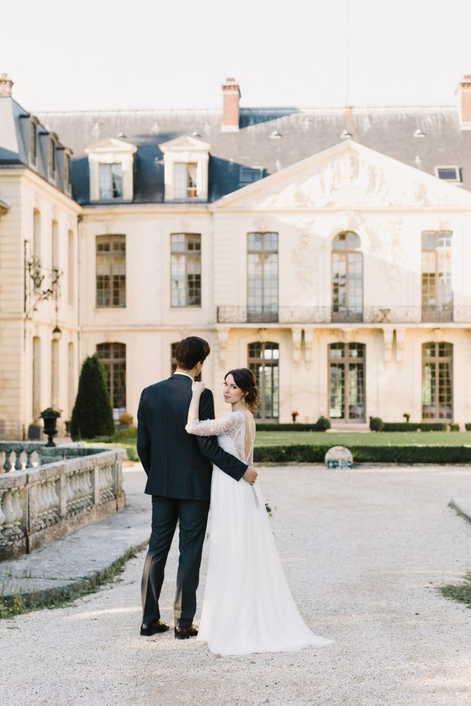 french chateau ceremony ermenonville