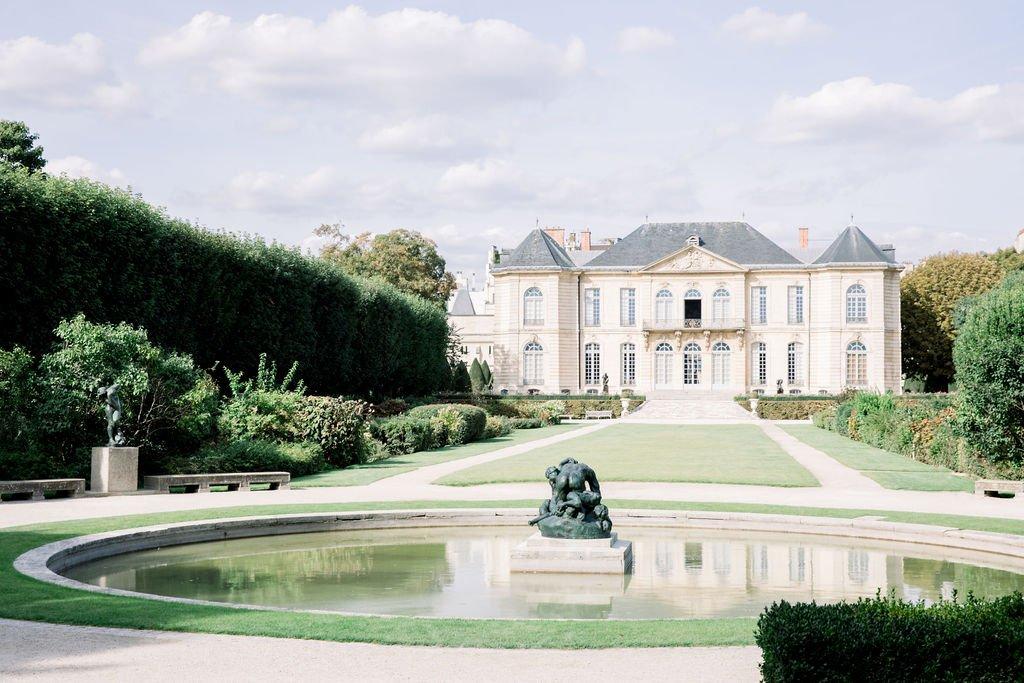 Rodin museum elopement Katerina Meyvial wedding planner