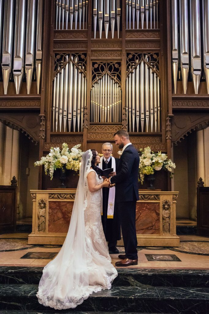 american church wedding paris