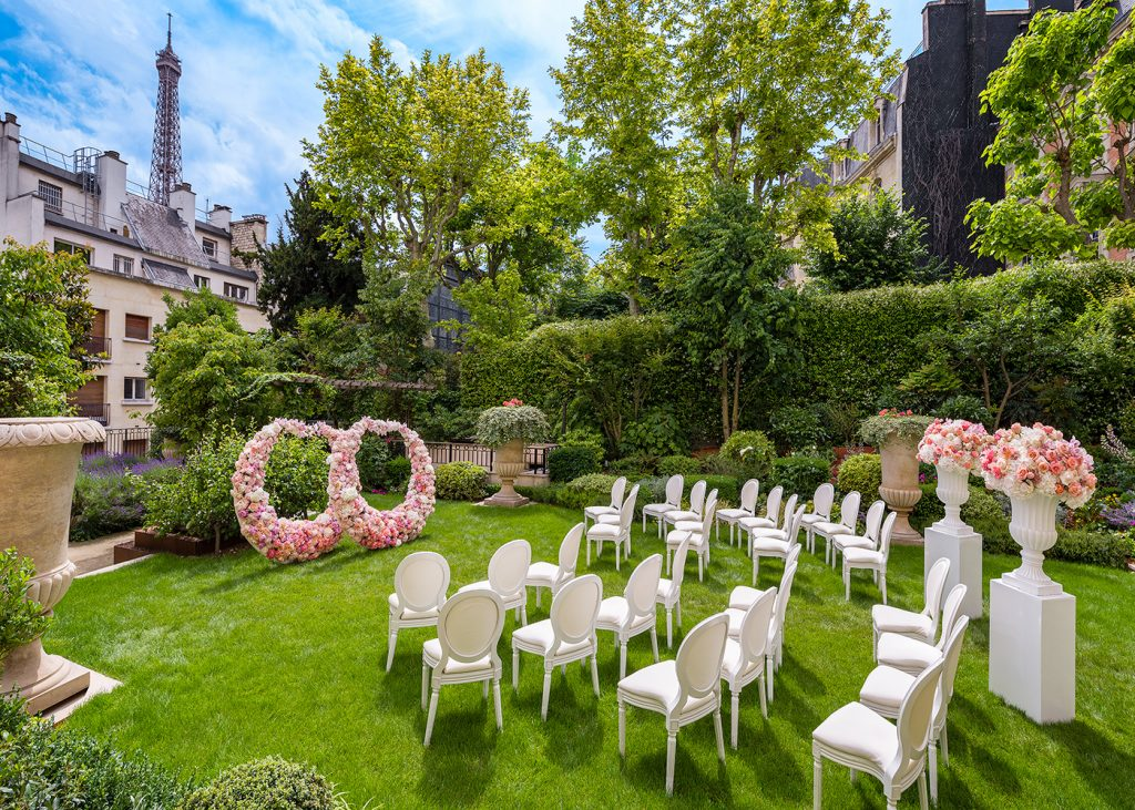 shangri la paris wedding in the garden