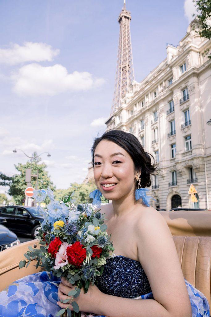 elopement paris private car ride